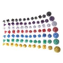 12 Stks/set Multi-Zijdige Polyhedral Dice Acryl Digitale Dobbelstenen D4 D6 D8 D10 D12 D20 D24 D30 D60 D11 19 Dropship