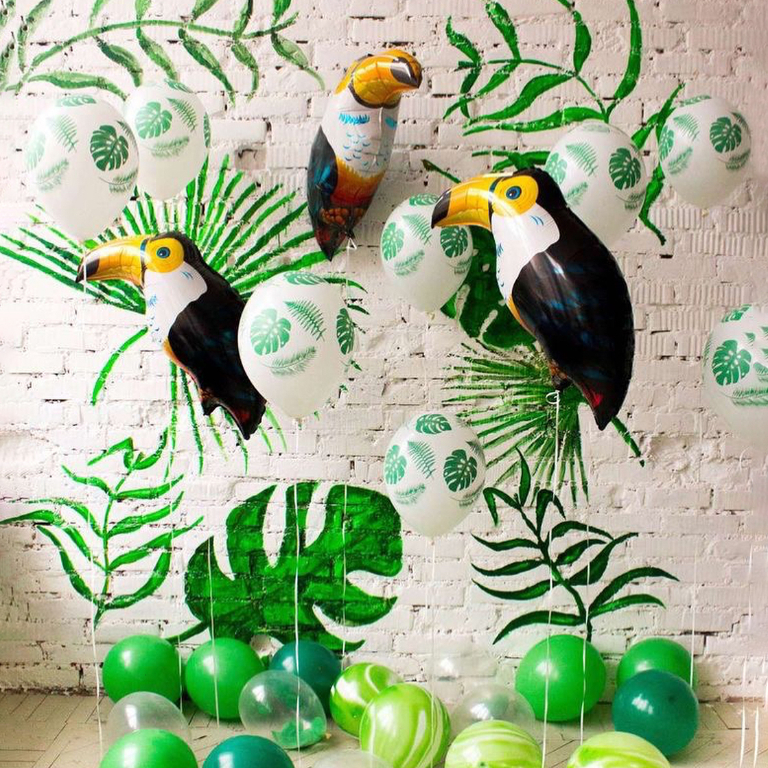 Jungle Party Dinosaurs Balloons Safari Party Animal Baloons Baby Shower Boy Birthday Party Decorations Banner Kdis Favors Ballon