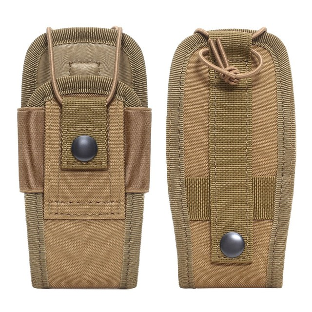 Tactical Molle Radio Pouch Military Walkie Talkies Holster Bag Waist Bag Holder Pocket Interphone Holster Carry Bag For Hunting 2