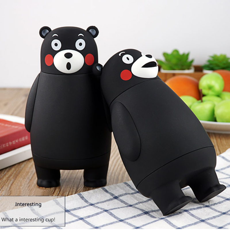 Image 2 - 280ml Cartoon Kumamon Bear Vacuum Cup Stainless Steel Thermo Mug Insulated Vacuum Flasks Thermoses Travel Drink Water Bottle-in Vacuum Flasks & Thermoses from Home & Garden on AliExpress