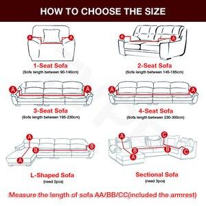 Image 2 - funda sofa elástica slipcovers l forma capas de sofá para sala de estar elastano barato secional capa de sofá 1/2/3/4 seater estiramento