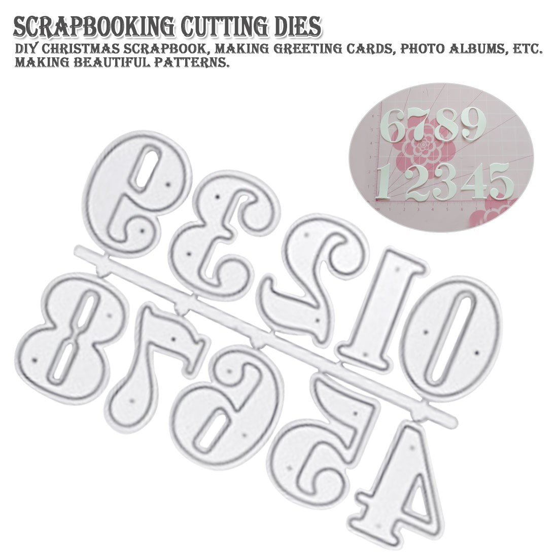 10Pcs Numbers Metal Cutting Dies for DIY Scrapbooking Album//photo Cards Making I