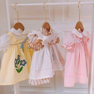 Новинка лета 2020, детское платье, детское платье в стиле Лолиты, Кукольное платье, вечерние платья для маленьких девочек на свадьбу