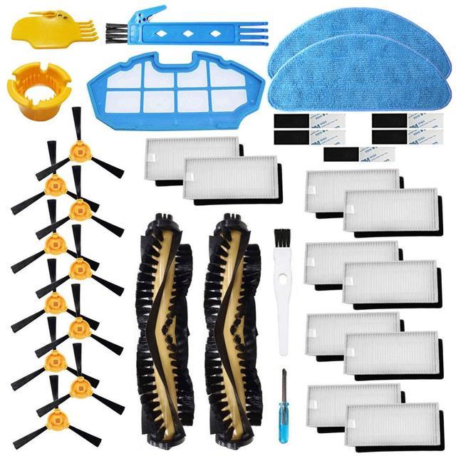 交換 Cecotec コンガ優秀 990 ロボット掃除機アクセサリキットメインブラシ Hepa フィルター、サイドブラシ
