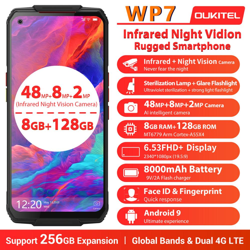 OUKITEL WP7 Ip68 8GB 128GB LTE/GSM/WCDMA Quick Charge 4.0 Wireless Charging Octa Core