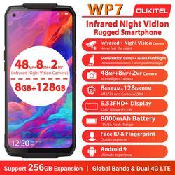 Смартфон OUKITEL WP7 защищенный, 8 + 128 ГБ, тройная камера 48 МП, 8000 мАч