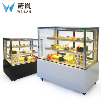 Right Angle 0.9M Commercial Refrigerated Pie Bakery Cake Sandwich Display Fridge 1