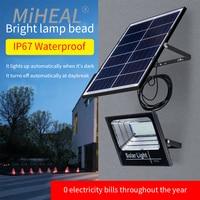 Luz Solar LED 65W-300W movimiento al aire libre de recarga colector Solar luz Led de emergencia luz para la calle Jardín porche lámpara