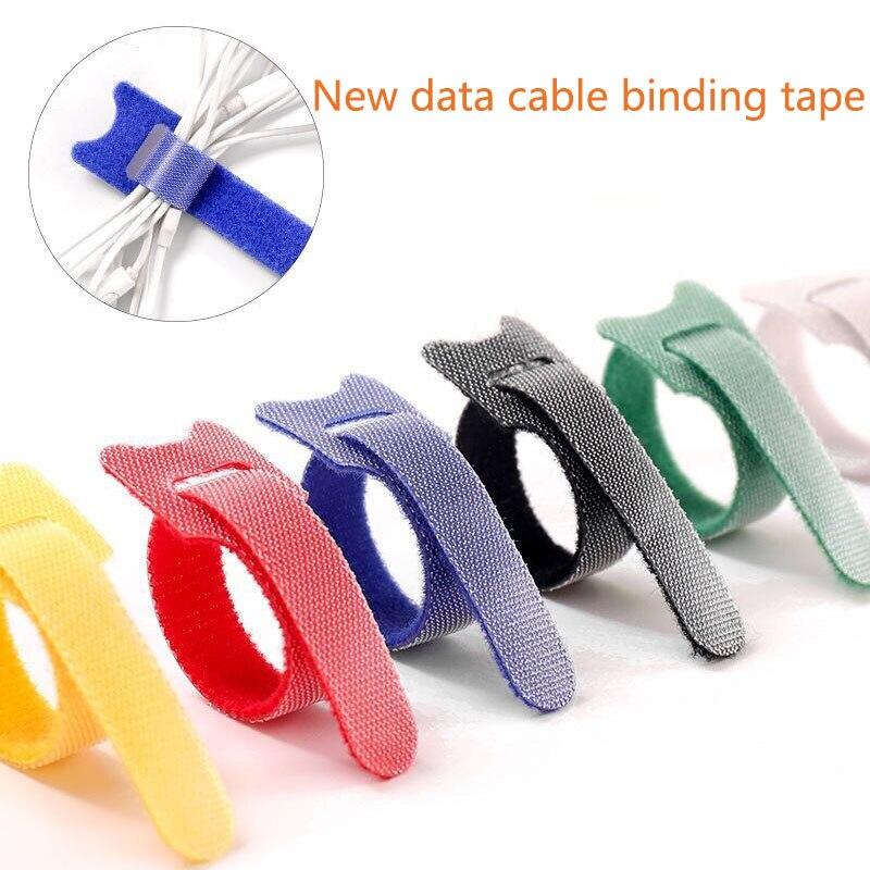20pcs 15cm Magic Tape Sticks Cable Ties Model Straps Wire Battery Stick Buckle Belt Bundle Tie Adhesive Hook Loop Fastener Tape