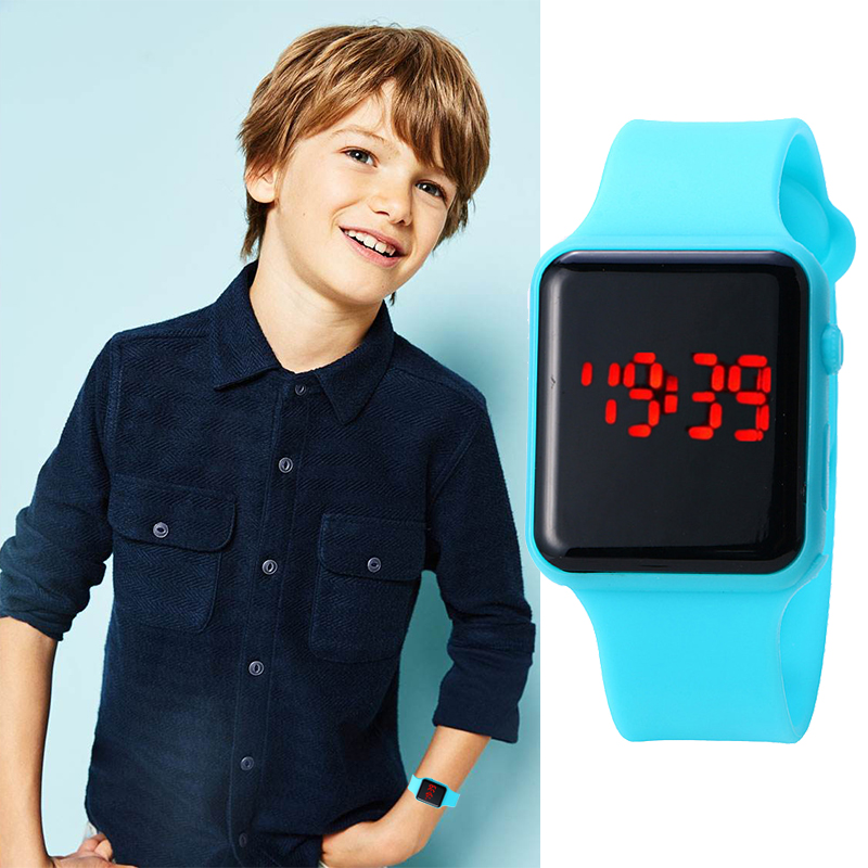 Children Watch Kids Silicone Watch Electronic Digital Bracelet Clock Sport Wristwatches For Boys And Girls Reloj Montre Enfant