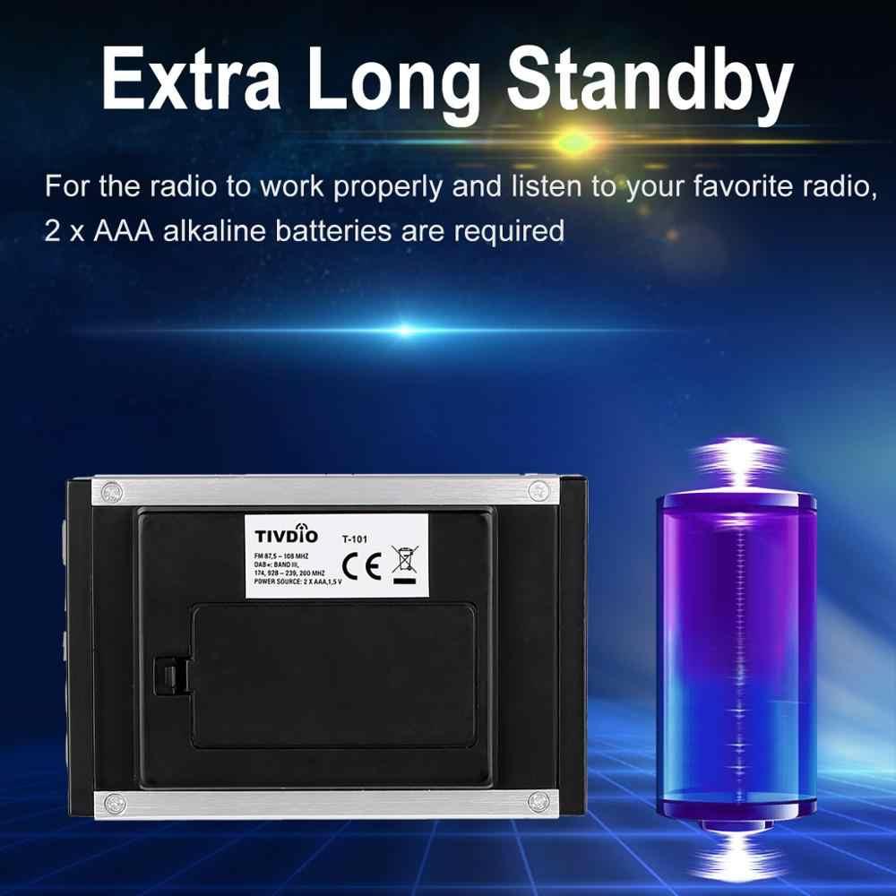 Fm Rds Radio Pocket Digitale Dab Ontvanger Draagbare Dab +/Dab Radio Ontvanger + Met Oortelefoon Tivdio T101 F9204D