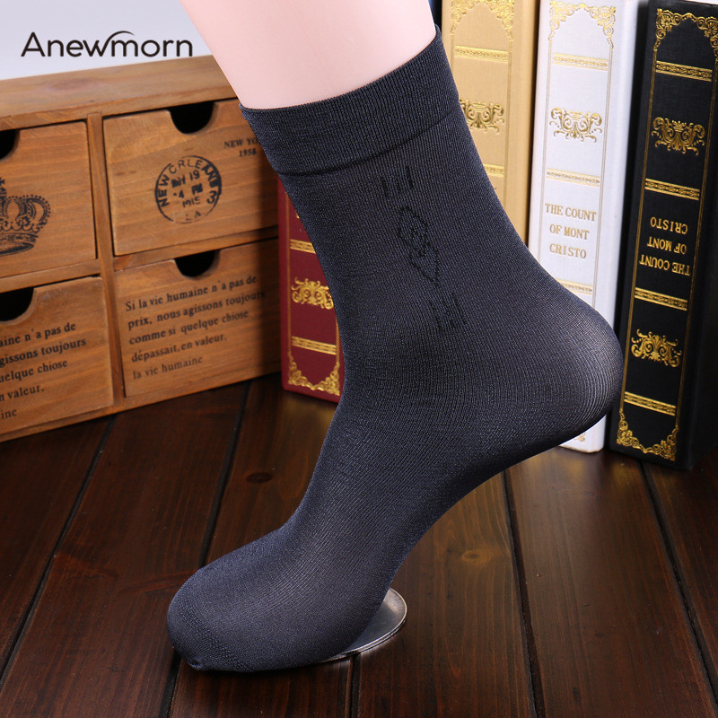 Man's Solid Thin Nylon Reinforce Durable Translucent Business S Socks Female Fashion Casual Traveling Breathable Socks