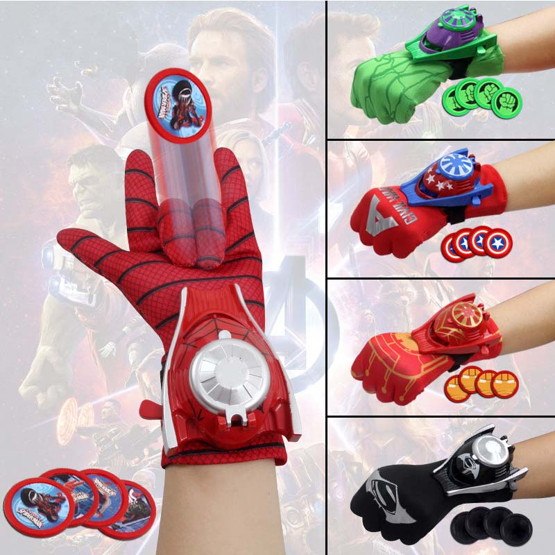 Marvel Superhero Gloves Cosplay Avengers Thanos Glove Toy Halloween Party T Super Hero Launch Toys For Children