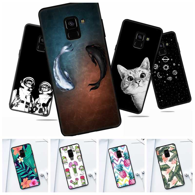 Printed Phone Floral Shell For Samsung Galaxy A3 A5 A6 A7 A8 Plus A8 A9 Star Silicon Case For Samsung Note8 Astronaut Cover Capa