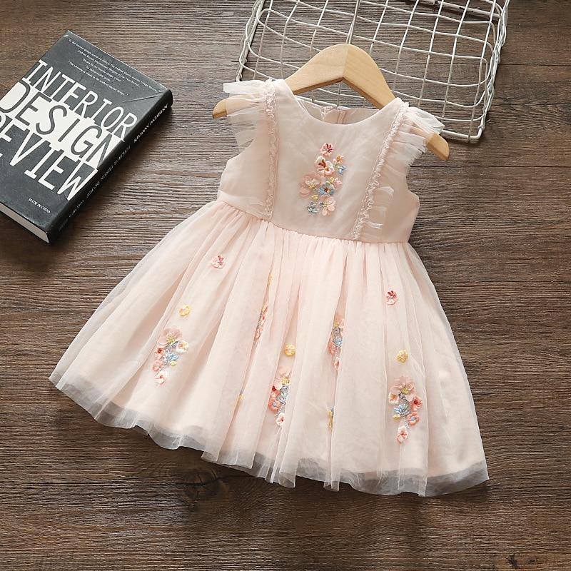 Princess Baby Girl Dress Party Birthday Tutu Dress Lace Floral Baptism Wedding Dresses For 0-2y Newborn Clothes Vestido Infantil