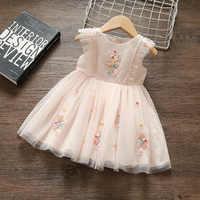 Vestido de princesa para niña de 0 a 2 años, tutú de cumpleaños, encaje Floral, Bautismo, boda, ropa de recién nacido, Vestido Infantil