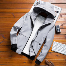 Autumn classic hoodie vintage windbreaker bomber jacket men military plus size european style cotton casual waterproof safari