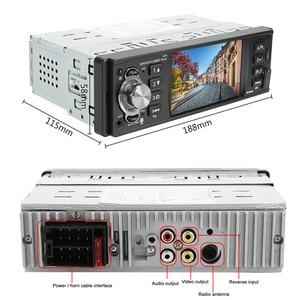 Image 5 - 1 din 4.1 Polegada rádio do carro tf usb carregamento rápido peças de automóvel bluetooth 4.2 iso remoto multicolorido iluminação áudio vídeo mp5 player