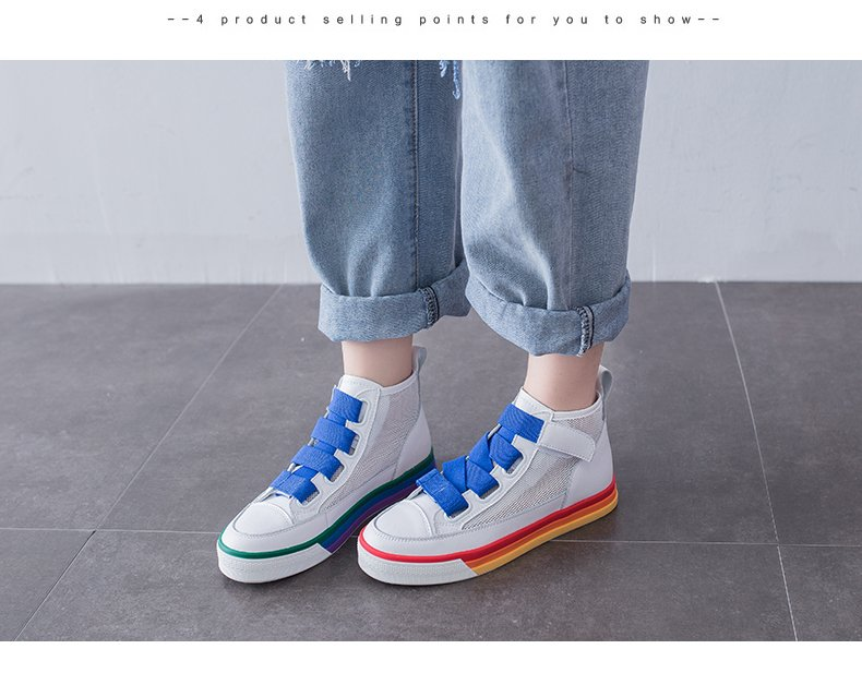Liren 2019 Summer Fashion Casual Women Vulcanize Shoes Hook amp Loop Comfortable Breathable Women Casual Shoes Size 35 40 in Women 39 s Vulcanize Shoes from Shoes