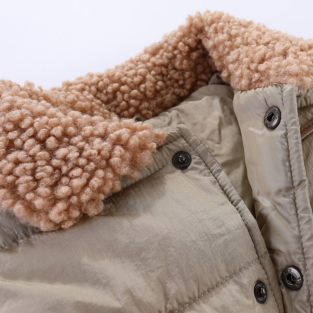 Mudkingdom Kids Jacket Vest Autumn Winter Sleeveless Wool Lapel Colar Children Outerwear 6