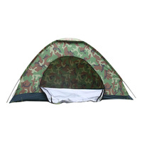 2 Person Outdoor Camping Protable Tourist Sun Shade Camouflage Tent Home Garden Fishing Hiking Shelter Waterproof Folding