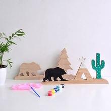 Деревянные поделки незавершенные игрушки для детей скандинавские