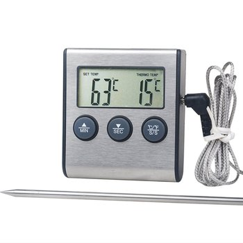 Tp700 Digital Remote Wireless Food Kitchen Oven Thermometer Probe For BBQ Grill  Oven Meat Timer  Temperature  Manually Set