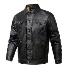 New Mens Leather Jackets Autumn And Winter Motorcycle Male PU Coats Biker Faux Leather Fashion Outerwear(China)