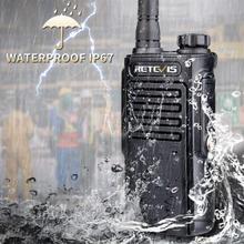 RETEVIS RT647/RT47 Walkie Talkie IP67 wodoodporny PMR446 FRS Radio Comunicador VOX TOT dwukierunkowy radiowy ręczny nadajnik odbiornik