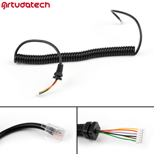 Artudatech RJ45 6PIN Speaker Mic Cable Line Cord For Yaesu MH48A FT 8800 FT 1802 FT7800 Radio Microphone