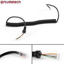 Artudatech RJ45 6PIN głośnik Mic linia kablowa przewód do Yaesu MH48A FT 8800 FT 1802 FT7800 mikrofon radiowy