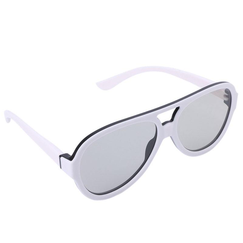 Universal Circular Passive Polarized 3D Glasses For TV Real 3D Cinema 0.42mm