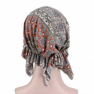 Image 5 - Chapeau de chimio en coton doux imprimé