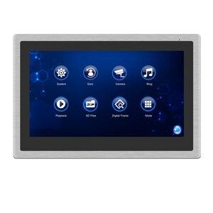 Image 2 - Проводной видеодомофон Homefong, монитор с 10 дюймовым сенсорным экраном, поддержкой AHD, дверной звонок, уличная камера с подключением, записью обнаружения движения