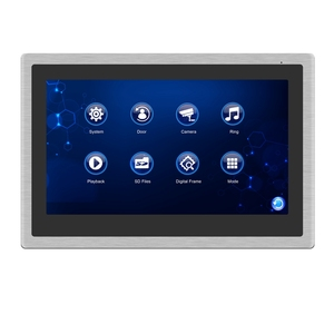 Image 2 - Homefong Wired Video Intercom Monitor 10 inch Touch Screen Support AHD Doorbell Outdoor Camera Connected Motion Detection Record
