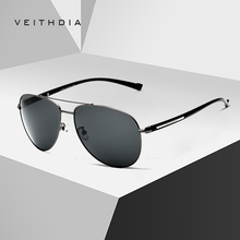 2019 VEITHDIA Brand Designer Fashion Men's Sun Glasses Polarized Mirror Lens Vintage Sunglasses Male Eyewear For Men 2708