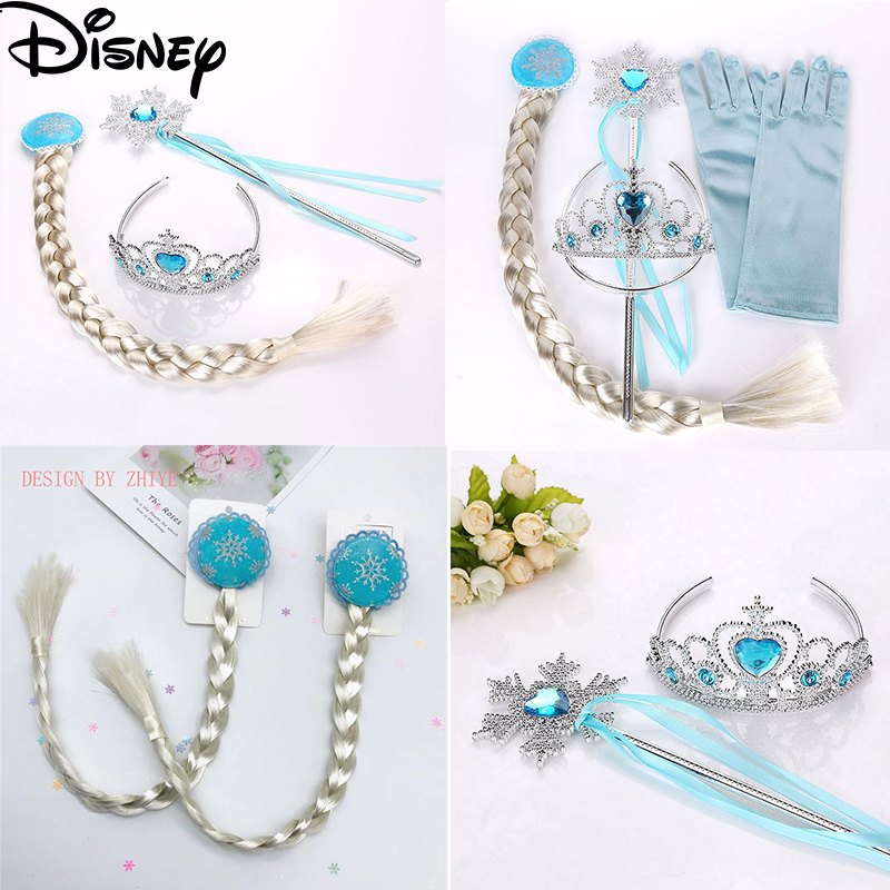 Frozen 2 Toys For Girls Disney Princess Elsa Crown Magic Wand Gift Set Children Kids Party Accessories Frozen Toys Juguetes Toy