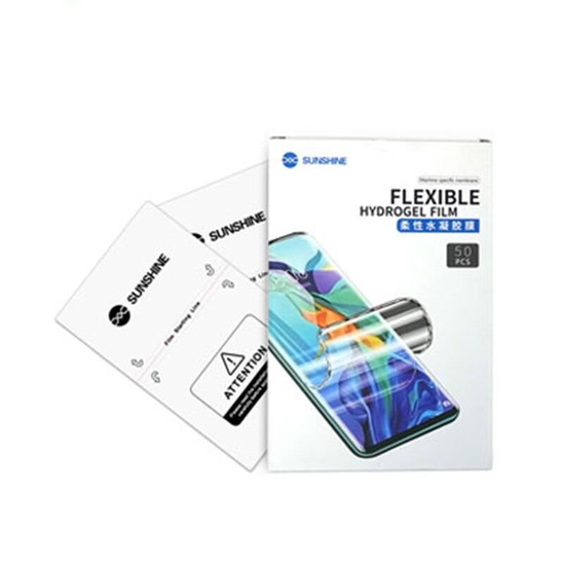 Le film hydrogel SUNSHINE SS-057 peut couper la couverture de tous les téléphones mobiles pour éviter de rayer le film de protection nano 890C avant f