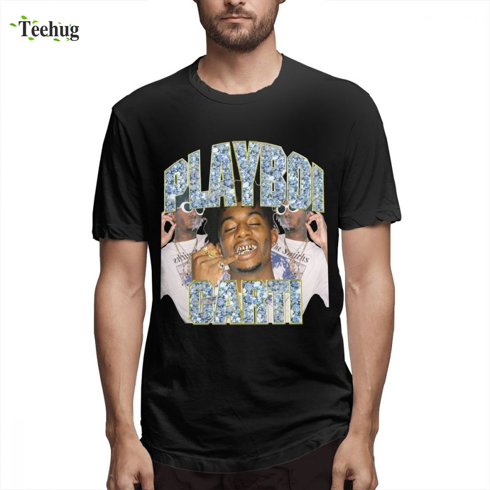 Playboi Carti Vintage Short Sleeve New Design For Male Popular Custom Quality Cotton Tee For Male in T Shirts from Men 39 s Clothing