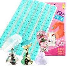 Colle adhésive pour ongles, argile pour fixer les faux-ongles, support amovible et réutilisable, outil de pratique de manucure