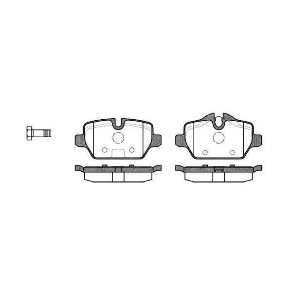 Колодки дисковые з. BMW E87 1.6i/1.8D 04 REMSA 1132 00