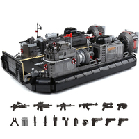 Building Blocks Compatible Brand 3006Pcs Military Weapon Series Amphibious Transport Ship With Figures MOC Toys For Adults Gifts
