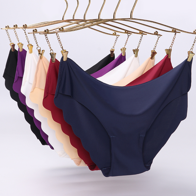 High Quality Women's Seamless Panties Solid Ultra-thin Underwear Sexy Low-Rise Ruffles Briefs Lingerie 2020 New