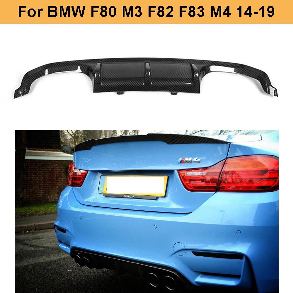 BMW SERIE 4 F33 F83 M Performance LOOK POSTERIORE BOOT LIP SPOILER ALA Matte Black