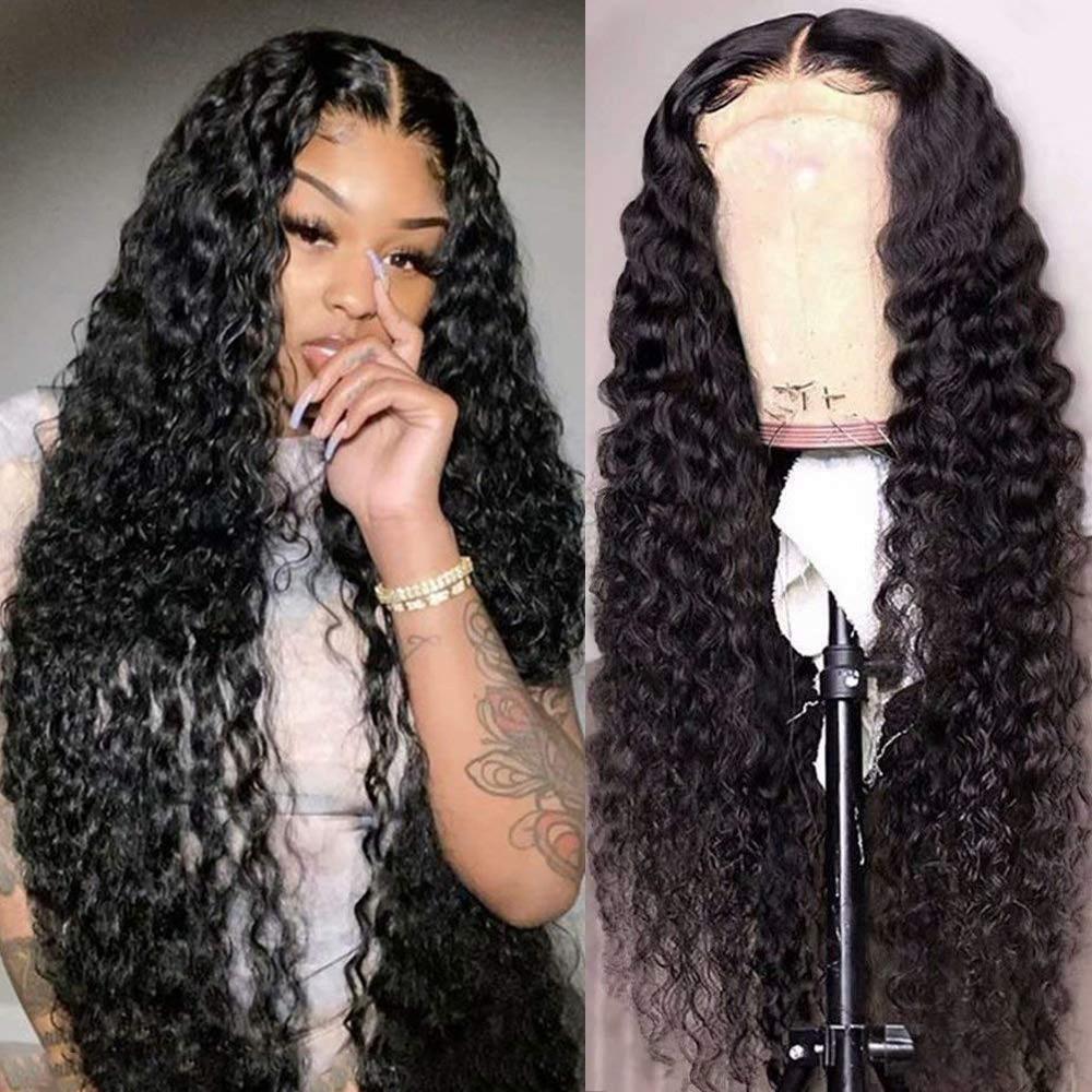 13x6 глубокая волна Синтетические волосы на кружеве парик Максин 30 дюймов Волнистые парик 150% прозрачный Синтетические волосы на кружеве al па...