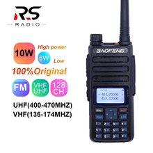 2020 real 10w baofeng BF-H6 novo walkie talkie rádio transceptor banda dupla vhf uhf cb ham scanner de rádio mais poderoso do que UV-5R