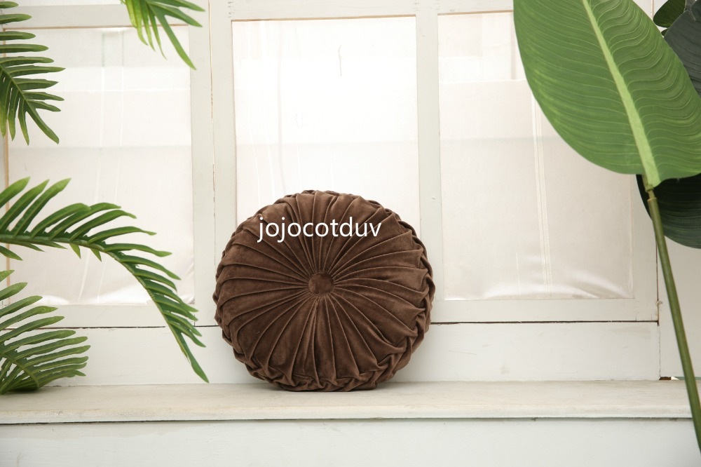 H4acd0acdb0f048acad89e8bd3f0c82d8B 35*35x11cm European style round Seat cushion/Back cushion or as home decor pillow sofa pillow velvet fabric
