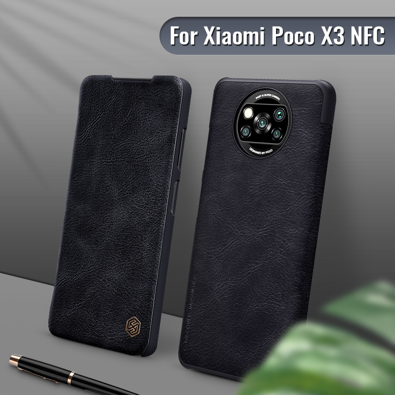 Poco X3 NFC case 6.67 For Poco X3 Pro NILLKIN Vintage Flip Cover wallet PU leather back cover for Xiaomi Poco X3 NFC Global