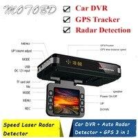 Neue 3 In 1 Auto DVR Anti Radar Detector Volle Bands GPS Kamera Tracker G-sensor Dual Kamera Schleife aufnahme Dash Cam