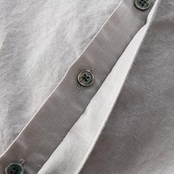 Bawełniana i lniana mieszana z długim rękawem wiosenna koszula męska moda wygodne koszule dla mężczyzn casual trwałe koszule męskie koszulka camisa tanie i dobre opinie Suehaiwe CN (pochodzenie) COTTON Linen Daily KOSZULE CODZIENNE Pełne Na co dzień Cztery pory roku STAND Jednorzędowe